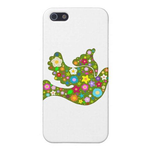 Paloma del jardín de la primavera iPhone 5 fundas