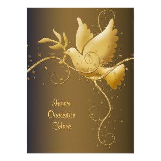"""Paloma del navidad de la paz invitación 5.5"""" x 7.5"""""""