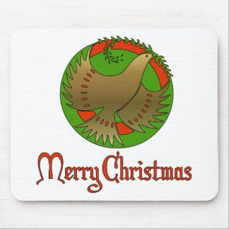Paloma del navidad alfombrillas de ratones