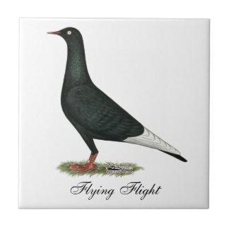 Paloma del negro del vuelo del vuelo azulejo ceramica