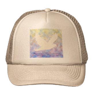 Paloma del rezo de la serenidad gorras de camionero