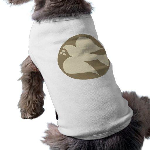 Paloma del signo de la paz ropa de perro