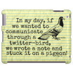 Paloma divertida del pájaro del gorjeo de la edad funda para iPad