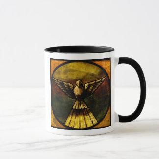 paloma en vitral taza