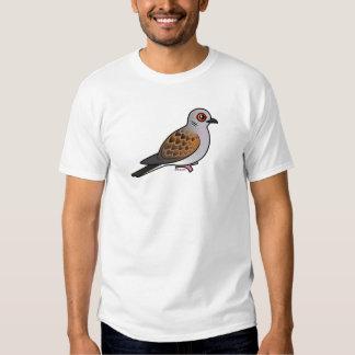 Paloma europea de la tortuga camisas