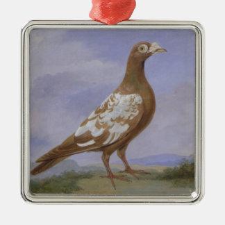 Paloma mensajera de varios colores roja (aceite en ornaments para arbol de navidad