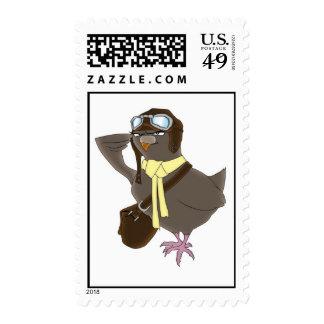 Paloma mensajera franqueo