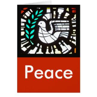 Paloma -- Paz con Shakespeare Tarjeta Pequeña