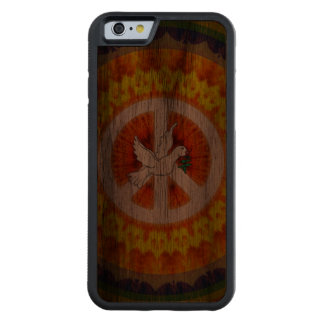 Paloma psicodélica de la paz funda de iPhone 6 bumper nogal