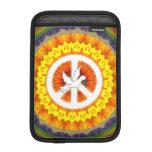 Paloma psicodélica de la paz funda iPad mini