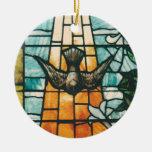 Paloma que simboliza el Espíritu Santo Adorno Navideño Redondo De Cerámica