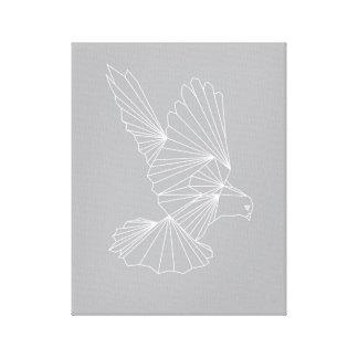 Paloma que vuela impresión en lienzo