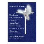 Paloma religiosa de la confirmación de la comunión invitaciones personalizada