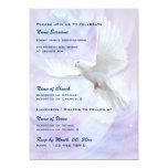 Paloma religiosa de la confirmación de la comunión invitación personalizada