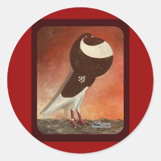 Paloma roja del cosechador de Norwich Pegatinas Redondas
