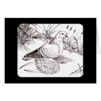 Paloma sajona del campo tarjeta pequeña