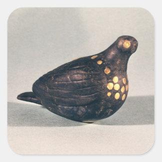 Paloma votiva pegatina cuadrada