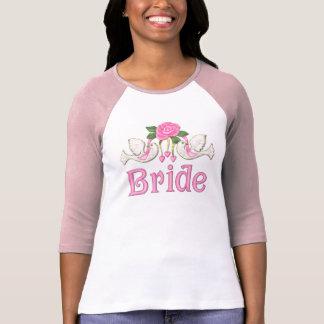 Paloma y subió - camiseta de la novia