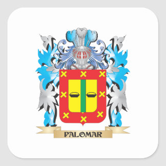 Palomar Coat of Arms - Family Crest Square Sticker