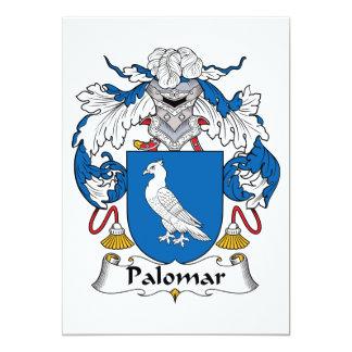 Palomar Family Crest 5x7 Paper Invitation Card