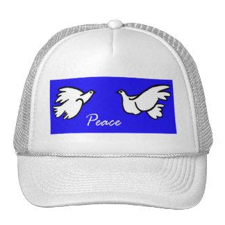 Palomas blancas de la paz gorros bordados