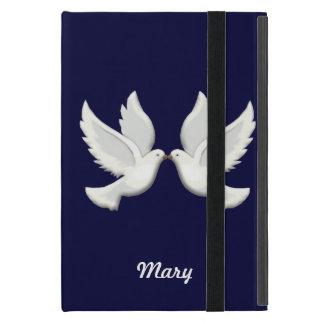 Palomas blancas personalizadas en el mini caso del iPad mini carcasas