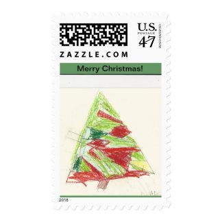 Paloma's Christmas Tree Stamp