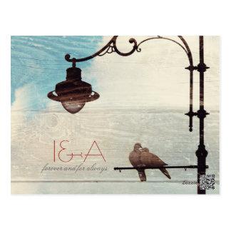 Palomas de la tortuga - amor y fidelidad tarjetas postales