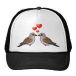 Palomas de la tortuga en amor gorros bordados