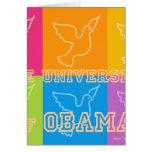 Palomas de paz de la universidad de Obama Tarjeta