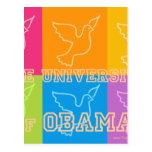 Palomas de paz de la universidad de Obama Tarjetas Postales
