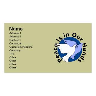 Palomas de paz tarjeta de negocio
