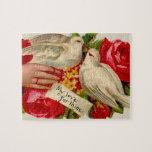 Palomas del amor del Victorian de los pájaros del  Rompecabezas Con Fotos