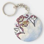 Palomas del anillo de bodas llaveros personalizados