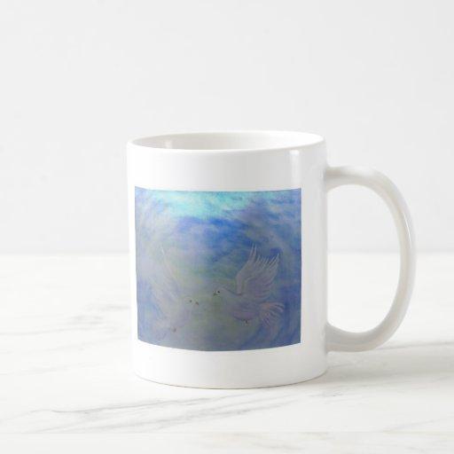 Palomas del cielo taza de café