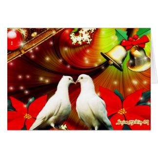 Palomas del navidad felicitacion