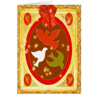Palomas del navidad tarjeta de felicitación