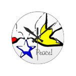 Palomas del reloj de la paz