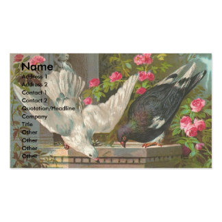 Palomas del vintage tarjetas de visita