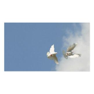 Palomas del vuelo plantillas de tarjetas de visita