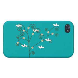 Palomas en un árbol iPhone 4/4S fundas