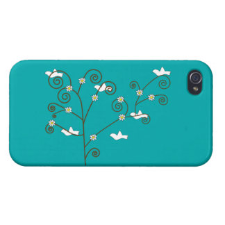 Palomas en un árbol iPhone 4 fundas
