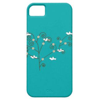 Palomas en una caja del árbol iPhone 5 Case-Mate cárcasa