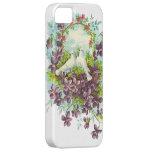 Palomas y flores del vintage iPhone 5 Case-Mate protector
