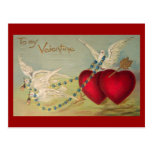 Palomas y postal de la tarjeta del día de San Vale