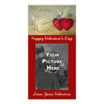 Palomas y tarjeta de la foto de la tarjeta del día tarjeta personal con foto