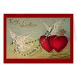Palomas y tarjeta de la tarjeta del día de San Val