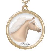 Palomino Arabian Horse Necklace