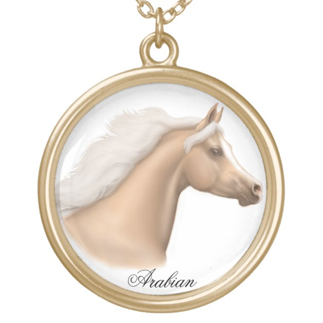 Palomino Arabian Horse Necklace Zazzle Com