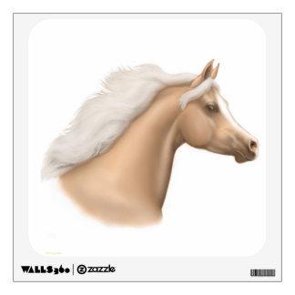 Palomino Arabian Horse Portrait Wall Decal